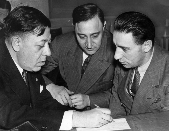Kasherman (right) at his trial, with his attorney Alex Kanter (HCL)